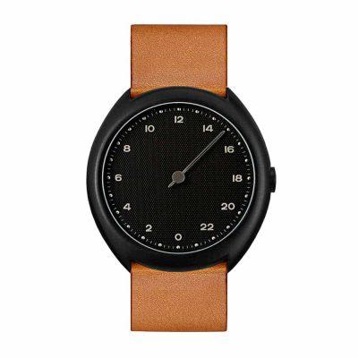 slow O 11 - Swiss one-hand wrist watch - Black, Brown